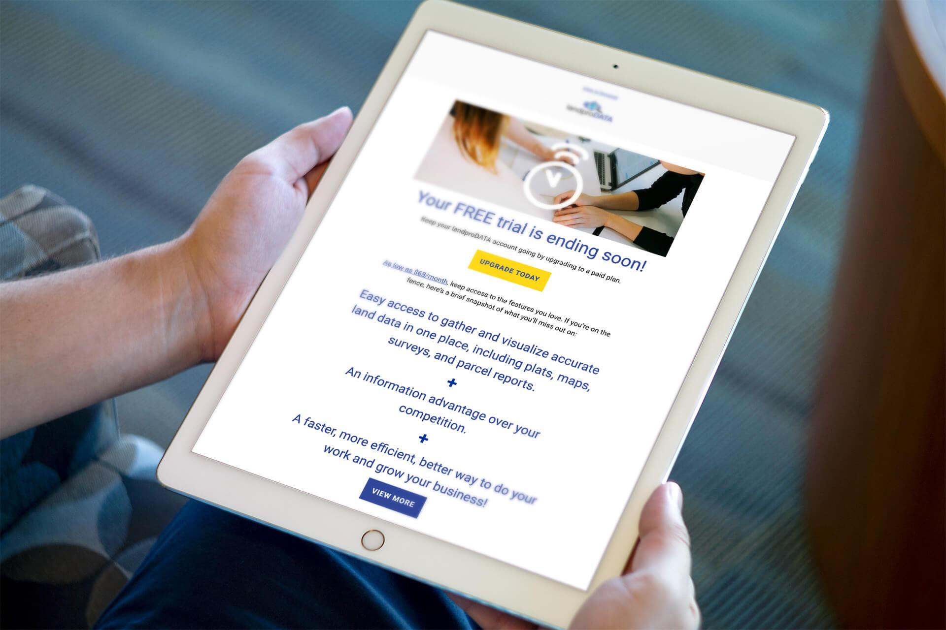 Email Marketing Mockups for landproDATA